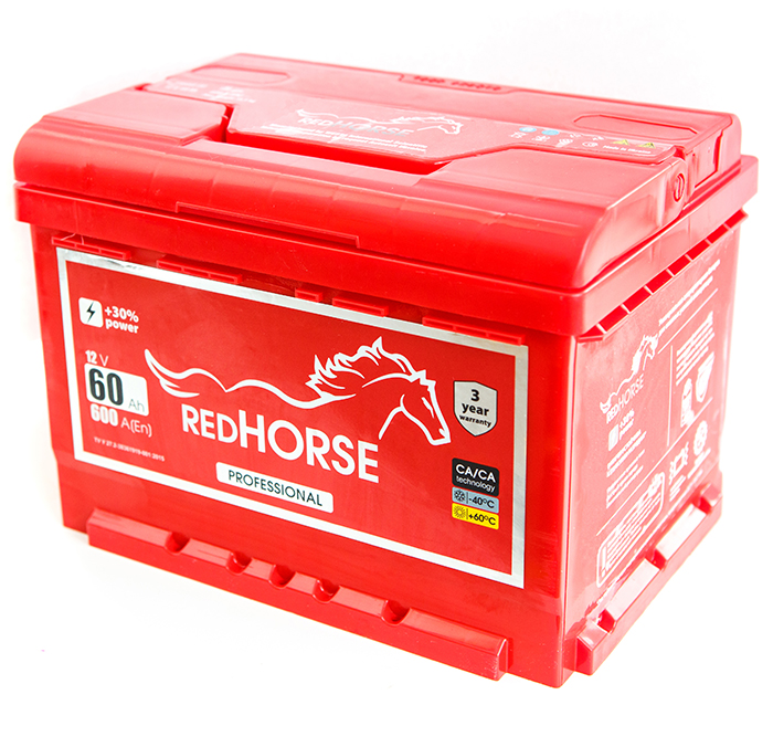 Аккумулятор Red Horse 6-СТ-60 R+ 600(А), купить в Киеве